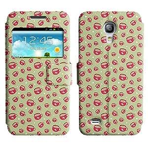 LEOCASE Tazas De Té Funda Carcasa Cuero Tapa Case Para Samsung Galaxy S4 Mini I9190 No.1000586