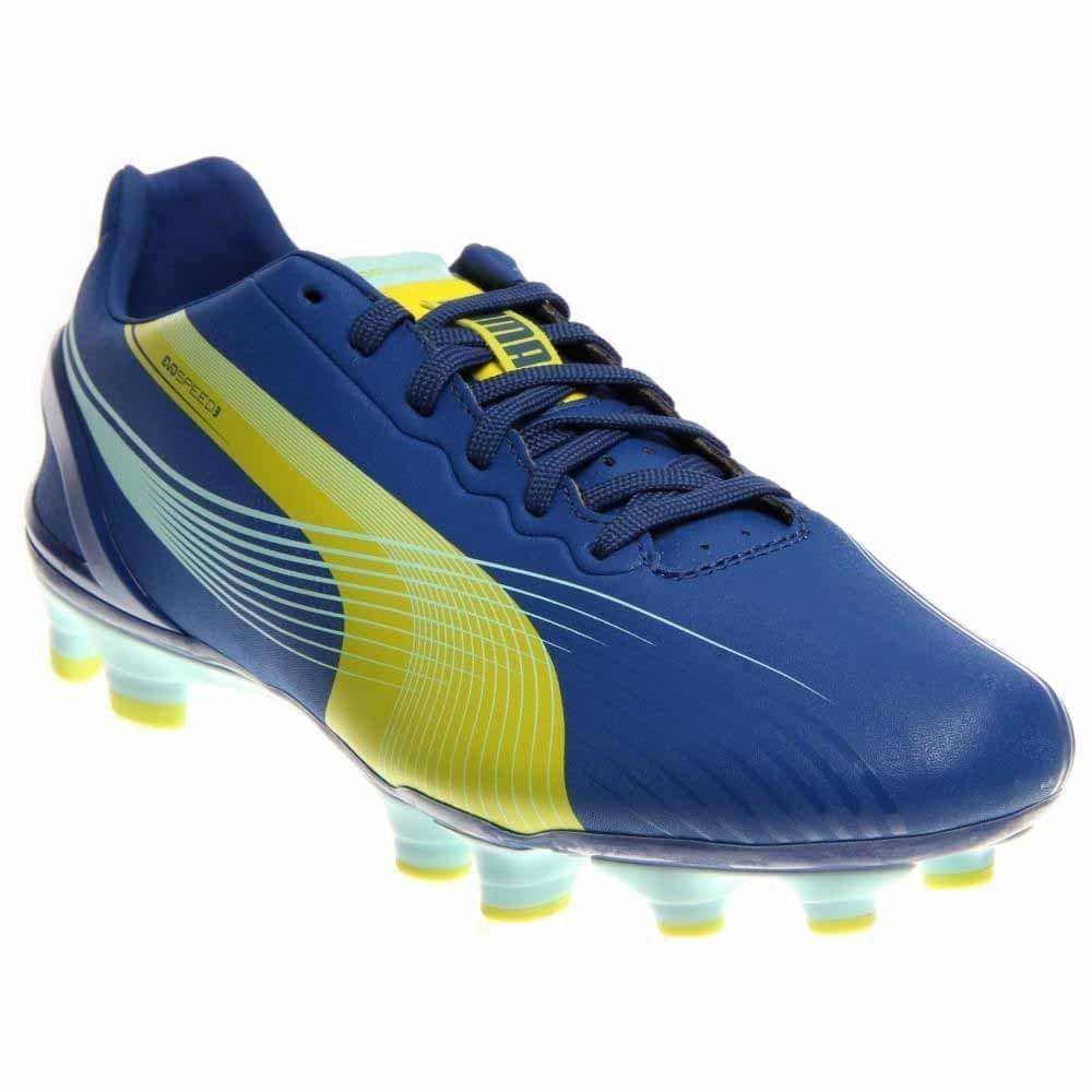 PUMA Women's Evospeed 3.2 FG Soccer Shoe,Monaco Blue/Sulfur Spring/Sunny Lime,9 B US