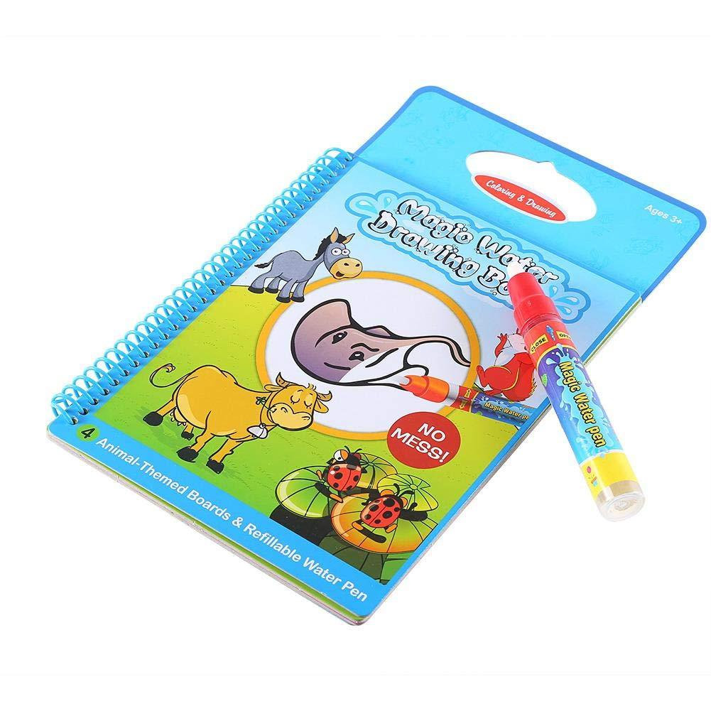 Wiederverwendbare Kinder F/ärbung Doodle Wasser Malb/ücher f/ür Kinder VGEBY1 Kinder malen Spielzeug
