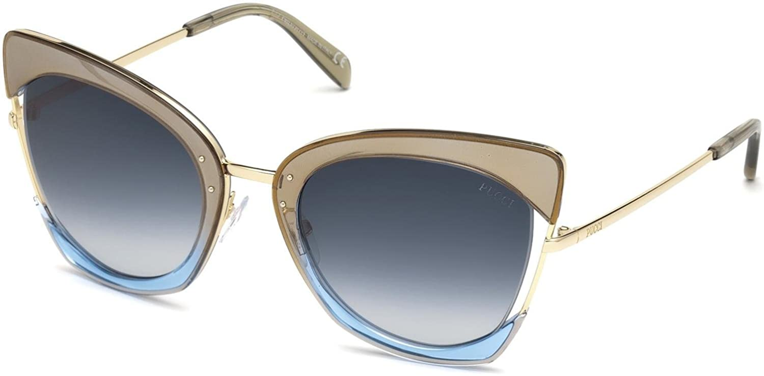 424bdf0c5c Sunglasses Emilio Pucci EP 0074 33W gold other   gradient blue at Amazon  Men s Clothing store
