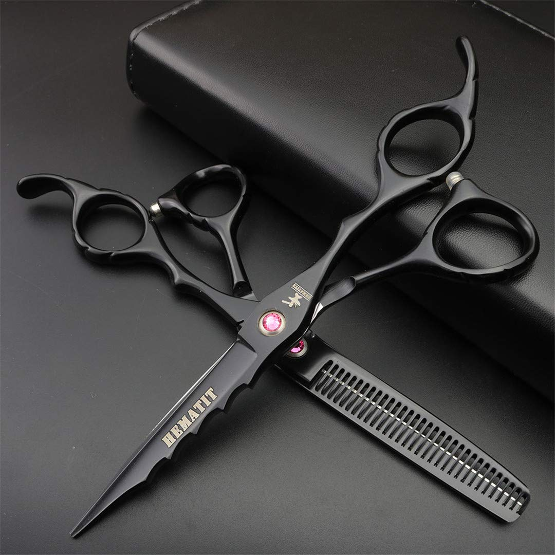 6 Inch Professional Hairdressing Scissors Style Scissors Cutting And Thinning Scissors Barber Scissors set by LDHURNCAQ