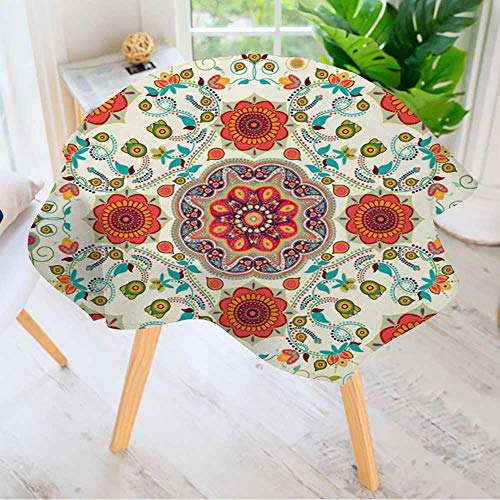 Leighhome Table Decoration Durable- Seamless Ethnic Pattern