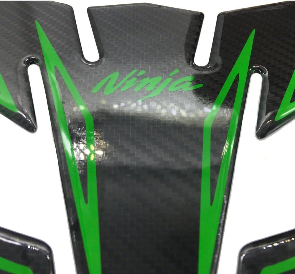 Carbon Fiber Look Motorcycle Tank Protector 8.6/'/' Pad For Kawasaki Ninja 250 300 650 ZX6R ZX10R ZX7R ZX9R ZX12R ZX14R 1000