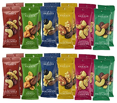 Sahale Snacks All Natural Nut Blends Grab And Go Variety Pack (24 Pack)