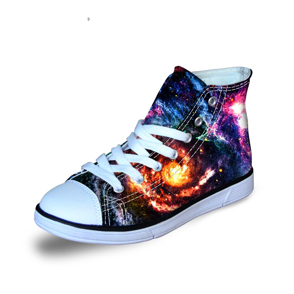 Coloranimal Kids Child High Top Canvas Shoes Outdoor Gym Sports Flats US4
