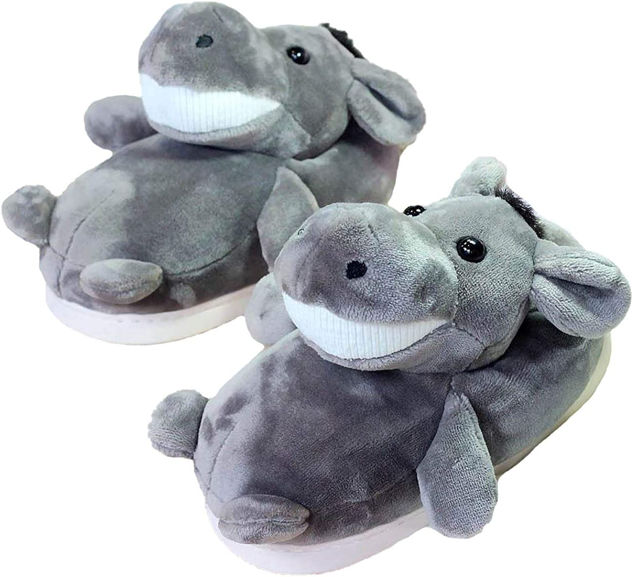 Adult Unisex Winter Warm Plush Animal Slippers,Soft Cozy Animal Styling Design Short Flannel Home Shoes,Animal Shaped Plush Booties,Carpet Slippers,Non-Slip Bedroom Shoes