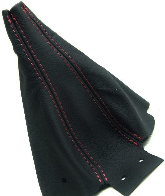 90-96 Red Stitch Made for Nissan 300ZX Autoguru E-Brake Boot Synthetic Leather Black Z32