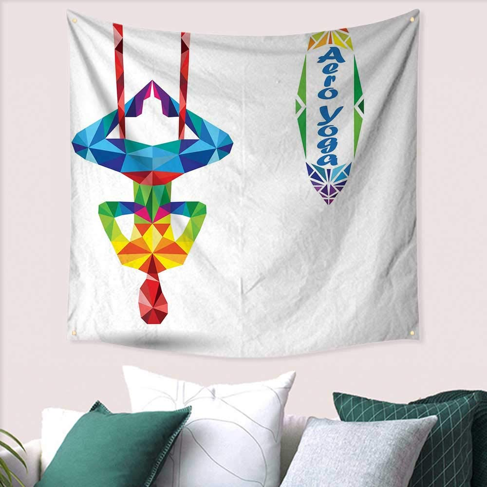 Amazon.com: Yoga Home Decor Tapestry Aerial Aero Anti ...