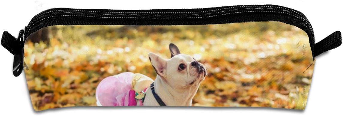 CZLXD Bulldog francés Vestido en Rosa, Estuche Unisex para lápices de Oficina, Organizador de papelería, Bolsa de cosméticos: Amazon.es: Hogar