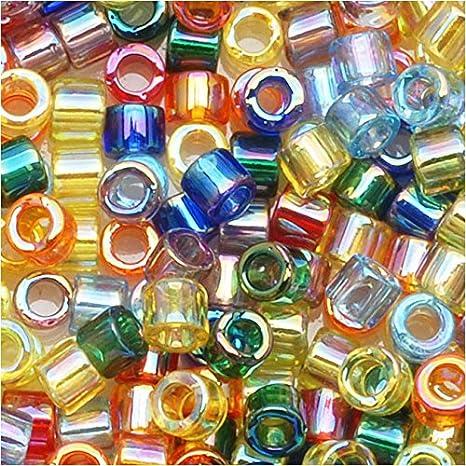 tamaño 11//0 Metálico Arco Iris 50 Gramos De Semillas De Vidrio Cuentas-Multicolor Iris-Aprox 2 Mm