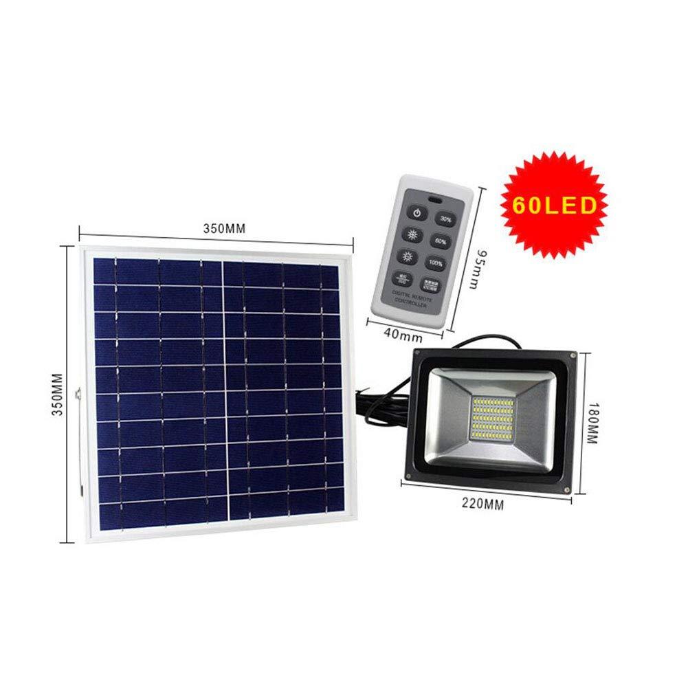 Suguoguo 60 LED-Flutlicht, Outdoor-Solargetriebene LED-Hochwasserlampe für Garden Solar Floodlights Lampen wasserdicht