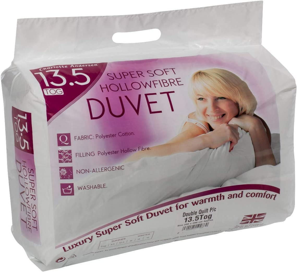 CnA Stores 13.5 Tog Double Duvet Super Soft Hollowfibre Winter Warm Anti-Allergy Cotton Blended Quilt