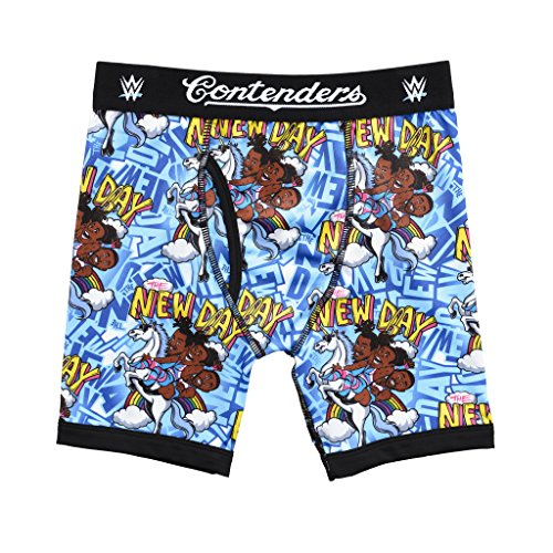 WWE New Day Adult Medium Blue (Wwe Smackdown Here Comes The Pain Usa)