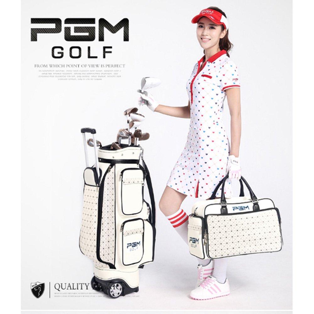 kofull PGMレディースゴルフ標準Wheeled Carry Bag & Handバッグ – バッグPUゴルフクラブ&ハンドバッグ B07D351VH7 golf club standard bag+hand bag golf club standard bag+hand bag
