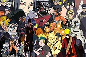Naruto Sasuke Big Group Photo Japanese Popular Anime Cartoon Zippered Pillow Case 16x24 (Twin sides)