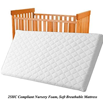 reputable site faba2 5c3a2 NURSERY BABY QUILTED BREATHABLE CRADLE/PRAM /COT/CRIB MATTRESS SIZE 89 x 38  CM SQUARE CORNERS