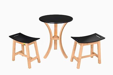 Tavolino da caffè set in gomma solida in legno tavolo con 2