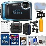 Fujifilm FinePix XP130 Shock & Waterproof Wi-Fi Digital Camera (Sky Blue) 32GB Card + Battery + Cases + Dive Light + Buoy Handle + Bike Mount + Kit
