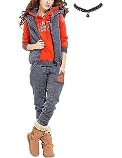 M Queen Damen Casual Sportanzug Jogginganzug Sweatshirt+