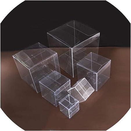 Cajas decorativas de PVC transparente, caja de agradecimiento, cuadrados de plástico para chocolates y caramelos, cajas de regalo, decoración de Navidad, 30 unidades por lote: Amazon.es: Hogar