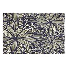 DENY Designs Gabi Blue Dahlia Woven Rug, 2 by 3-Feet