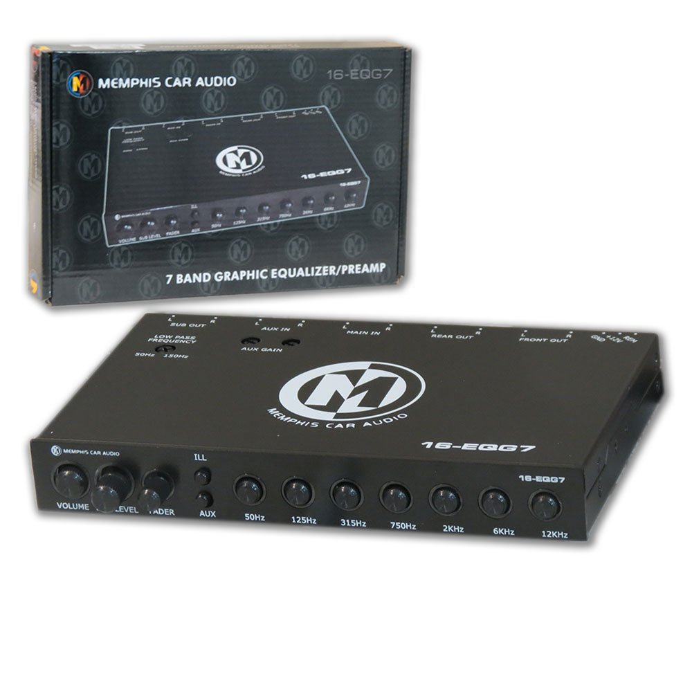 New Memphis Car audio 7-band graphic equalizer / Pre-amp with 8V line output by Memphis