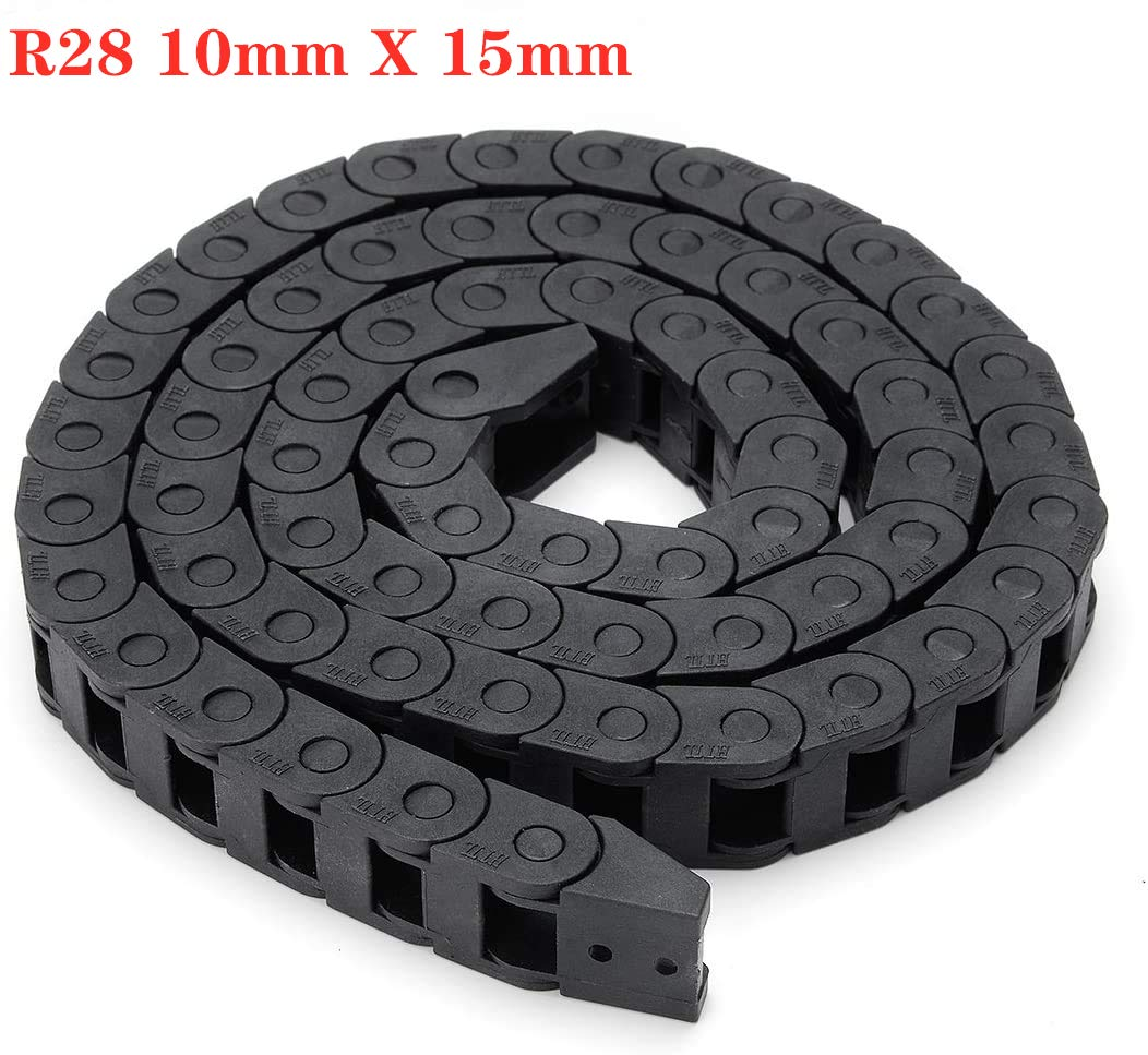 BZ 3D Plastic Flexible Nested Cable Drag Chain 10mm x 10mm Wire Cable Carrier Twist Chains for 3D Printer Parts CNC 3D Mini Electrical Machines Router Mill 10X10MM 1M
