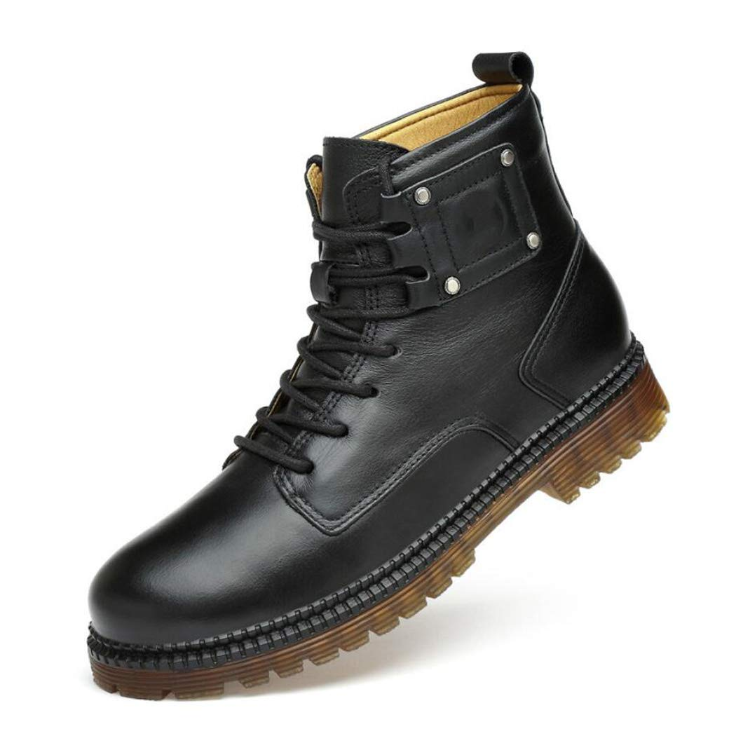 5a5574c03111 Zaqxs Autumn and Winter First Layer Leather Martin Boots Men s Leather Boots  Europe and The United States Men s Shoes Trend High to Help Large Size  Tooling ...