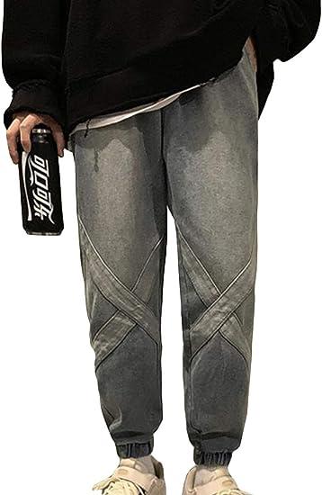 (BaLuoTe)デニムパンツ メンズ 秋 冬 ジーンズ ゆったり ロングパンツ メンズ ジーンズ ストレート デニム ファスナー パンツ メンズ パンツ