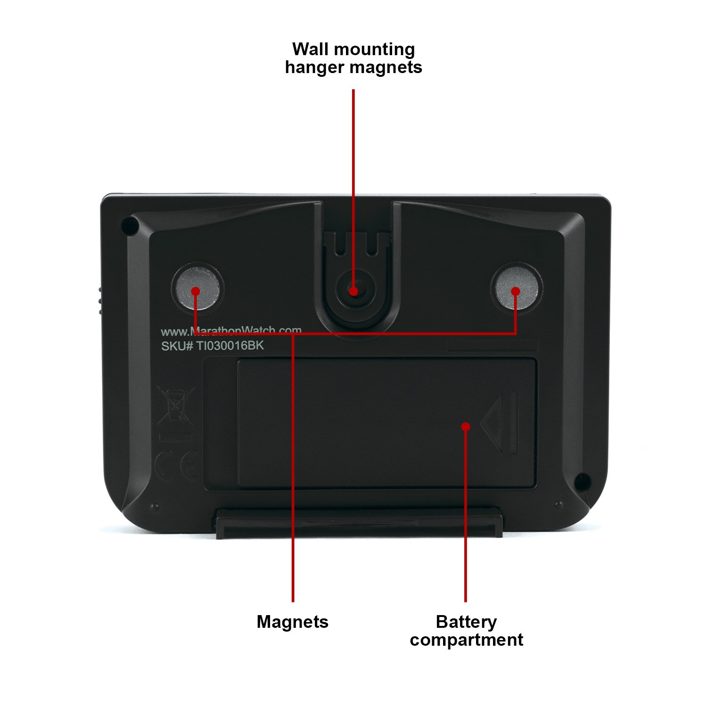 Marathon TI030016BK Big Digital Temporizador