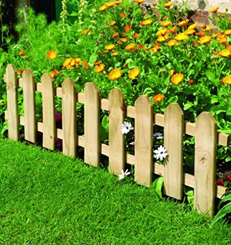 picket fence lawn edging best fence 2018