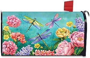 Briarwood Lane Dragonfly Garden Spring Magnetic Mailbox Cover Floral Standard