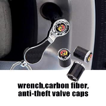 Llave para válvula de rueda de fibra de carbono para Abarth Fiat Linea Fiorino Sedici Siena Palio 500L 500x Doblo 595 596: Amazon.es: Bricolaje y ...
