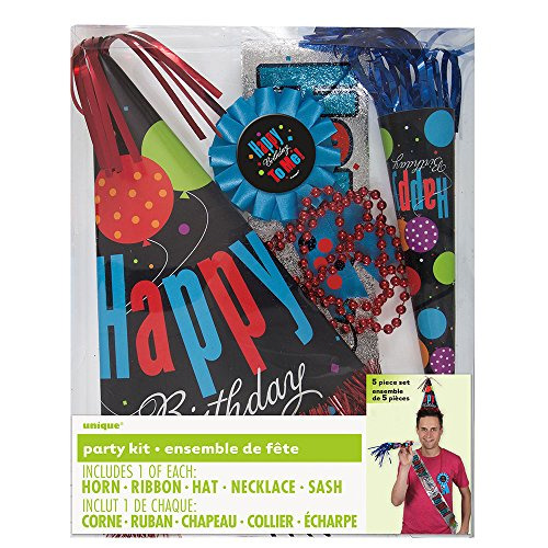 Black Birthday Party Accessories Kit