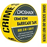 """Crime Scene Do Not Enter Tape, 3"""" x 330' Yellow Warning Barricade Tape, Bright Yellow/Black Print 3"""" Wide for High Visibility"""