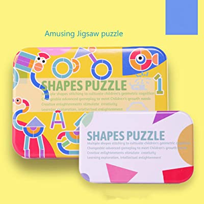 Children's Toys Building Blocks Animal Shapes Geometric Figures Intelligence Tangram 50 Patterns +38 Pieces of Wooden Puzzles: Toys & Games
