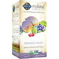 Garden of Life 180 Tablets Organic Prenatal Multivitamin Supplement with Folate