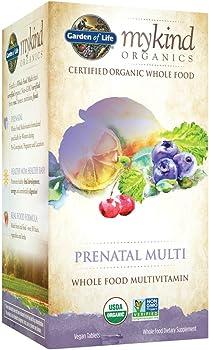 Garden of Life 180 Tablets Organic Prenatal Multivitamin Supplement