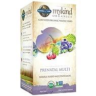 Garden of Life Organic Prenatal Multivitamin Supplement with Folate - mykind Whole Food Prenatal Vitamin, Vegan, 90 Tablets