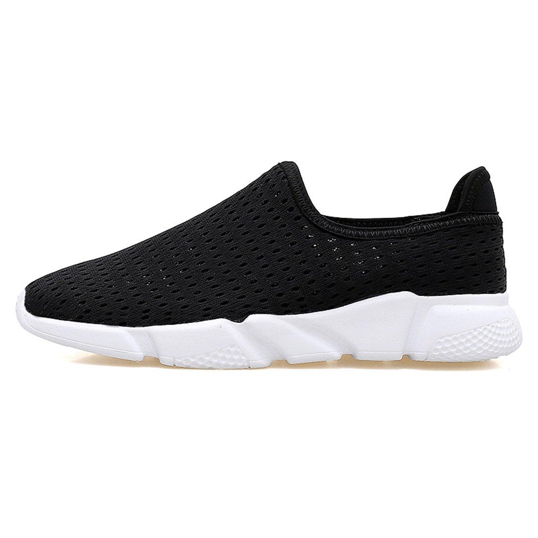 Men Women Ultra Light Weight Water Aqua Shoes Quick Drying Slip On Mesh Sneakers Black 250mm:9 B(M) US Women/7 D(M) US Men