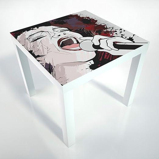 Table basse Mesa de Centro + película de protección + 55 x 55 x 45 ...