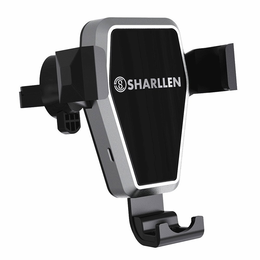 Wireless Car Charger,Gravity Car Wireless Fast Charger Mount Vent Car Kit Phone Holder for iPhone X/8 Plus/8,Samsung Galaxy S9/S9 Plus/S8/S8 Plus, Note 8 and Other QI-Enabled Devices-SHARLLEN