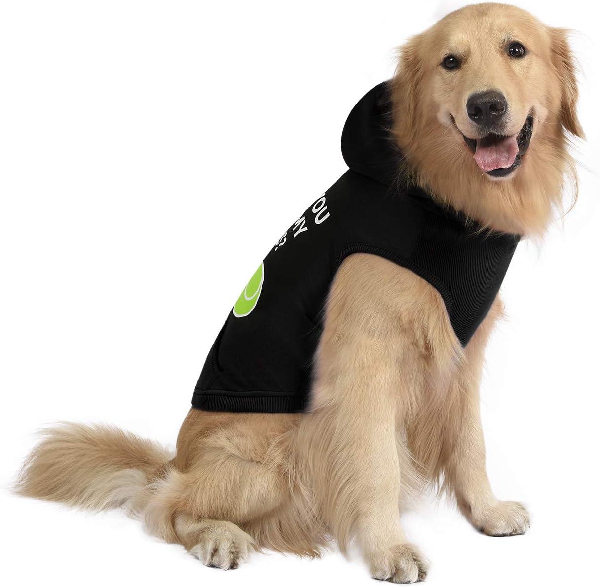 HDE Dog Hoodie Fleece Dog Sweater Hooded Sweatshirt for Large Medium Small Dogs