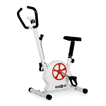 Klarfit Mobifit 5 Bicicleta estática Monitor 100kg Blanca: Amazon ...