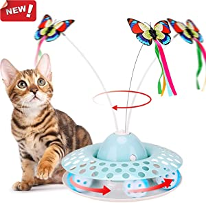 Rotating kitten toy