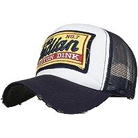 Feteso Gorras de béisbol Bordadas del Casquillo del Verano para los Hombres Gorras de béisbol Casuales de Hip Hop de los Sombreros de Las Mujeres