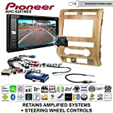 Pioneeer AVIC-6201NEX Double Din Radio Install Kit with GPS Navigation Apple CarPlay Android Auto Fits 2009-2010 Ford F-150 (Ash Satin)