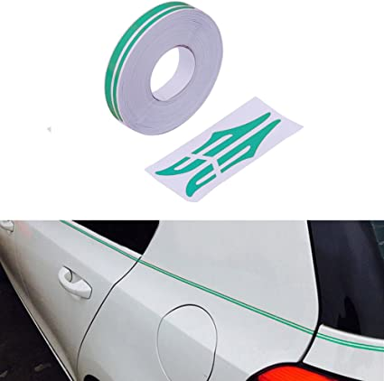 Amazon Com Pme 12mm 0 5 Pinstripe Pinstriping Pin Stripe Decals Vinyl Tape Stickers For Cars Green Sticker Automotive