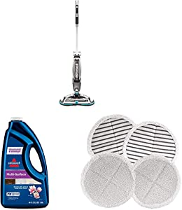 Bissell Spinwave Cordless + MultiSurface Formula + Pads