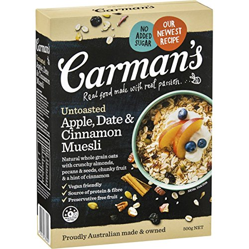 Carman's Untoasted Apple, Date & Cinnamon Muesli, 500g by Carmans